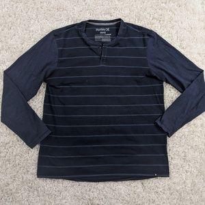 Hurley Nike Dri-Fit Henley Shirt Men Medium A04